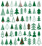 Icons conifer Stock Photography