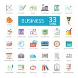 Icons connected to business vector illustration
