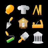 Icons for construction Royalty Free Stock Image