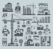 Icons construction Stock Photography