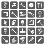 Icons construction and repair Royalty Free Stock Images