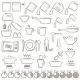 Icons cooking Royalty Free Stock Image
