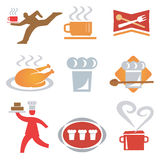 Icons_cooking_waiter. Set icons  of cooking, gastronomy. Vector illustration Royalty Free Stock Photo