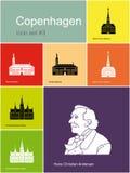 Icons of Copenhagen Stock Image