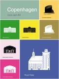Icons of Copenhagen Royalty Free Stock Image