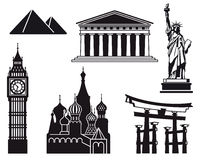 Icons of  countries Stock Images