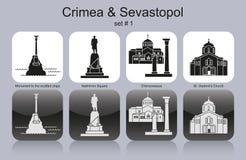 Icons of Crimea & Sevastopol Stock Image