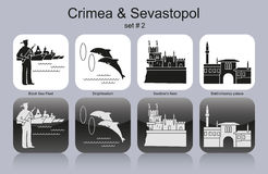 Icons of Crimea & Sevastopol Royalty Free Stock Photography