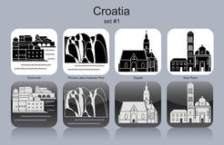 Icons of Croatia Stock Image