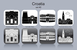 Icons of Croatia Royalty Free Stock Images