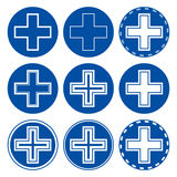 Icons with a cross Stock Image