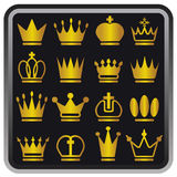 Icons crown Stock Photography