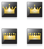 Icons with crowns Stock Photography