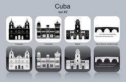 Icons of Cuba Royalty Free Stock Photography