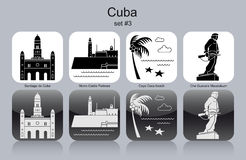 Icons of Cuba Royalty Free Stock Image
