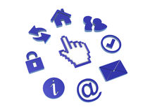 Icons and a cursor hand Royalty Free Stock Image