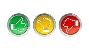 Icons customer satisfaction #2 Stock Photography