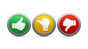 Icons customer satisfaction  3 Stock Images