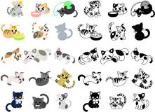 Icons of cute cats Royalty Free Stock Photo