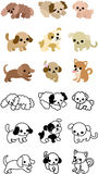 Icons of cute dogs Royalty Free Stock Photos