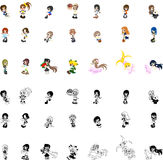 Icons of so cute Girls Stock Photos