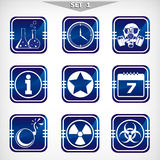 Icons of danger - set 1. Stock Images
