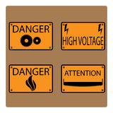 Icons danger. Stock Images