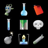 Icons for dangerous chemistry Stock Image