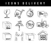 Icons delivery Royalty Free Stock Photos