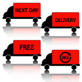 Icons delivery Royalty Free Stock Photography