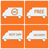 Icons delivery Royalty Free Stock Image