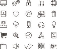 Icons describing social media and communication Royalty Free Stock Photography