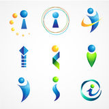 Icons design based on letter i Stock Photos