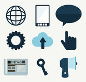 Icons design Royalty Free Stock Photography