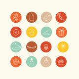 Icons design set Stock Photo