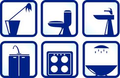 Icons detergent Royalty Free Stock Photos