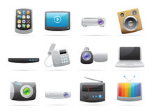 Icons for devices Royalty Free Stock Photography