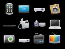 Icons for devices Royalty Free Stock Photos
