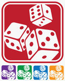 Icons dice Royalty Free Stock Photography