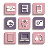 Icons of different Stock Images