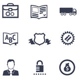 Icons of different companies with their specialization Royalty Free Stock Photography