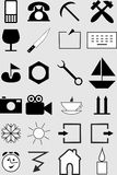 Icons. Different forms of living and working Stock Images