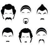 Icons of different hairstyles. Raster Stock Image