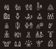 Icons for different people Royalty Free Stock Photo