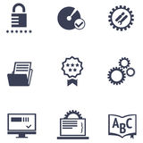 Icons of different services of IT company Royalty Free Stock Photo