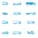 Icons for different types of special vehicles, part 2 Stock Image