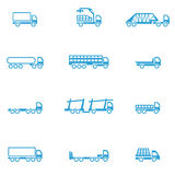 Icons for different types of special vehicles, part 1 Stock Photography