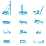 Icons for different types of special vehicles, part 5 Stock Photo