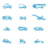 Icons for different types of special vehicles, part 3 Stock Images