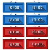 Icons for digital clocks Stock Images